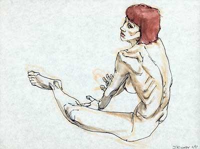 Donald Richey art work, figure drawing